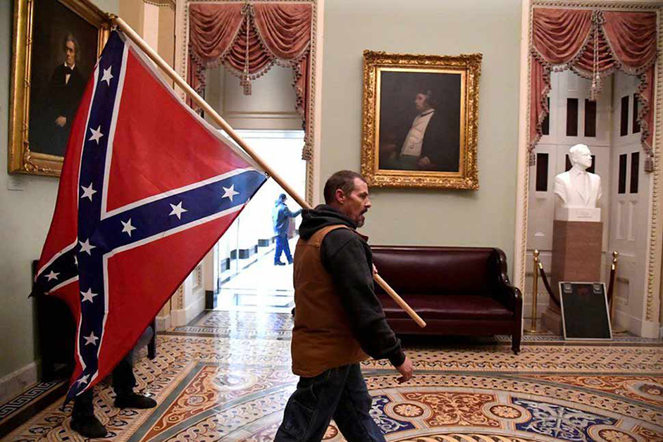 confederate flag on capital hill
